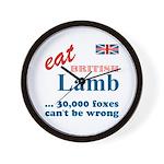 Slam in the Lamb Wall Clock