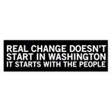 Real Change - Conservative Bumper Bumper Sticker