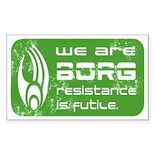 Star Trek - We are BORG green Decal