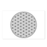 Postcards with Flower of Life (8x)