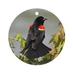 Redwing Perching Ornament (Round)