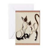 Two Siamese Cats Greeting Card