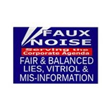 Faux Noise - Fox News Rectangle Magnet