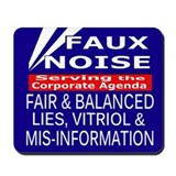 Faux Noise - Fox News Mousepad