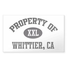 Property of Whittier Rectangle Decal