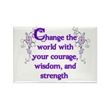 Courage, Wisdom and Strength Rectangle Magnet