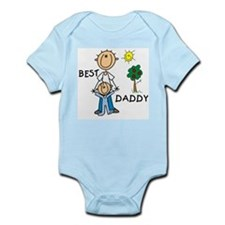 Best Daddy With Son Infant Bodysuit