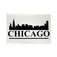 Chicago Skyline Rectangle Magnet (100 pack)