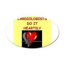 cardiologist 38.5 x 24.5 Oval Wall Peel