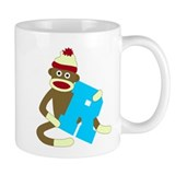 Sock Monkey Monogram Boy R Coffee Coffee Mug