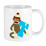 Sock Monkey Monogram Boy T Coffee Coffee Mug