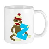 Sock Monkey Monogram Boy Z Coffee Mug