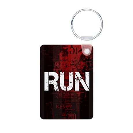 Run Aluminum Photo Keychain