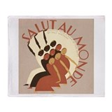 Salut au Monde Throw Blanket