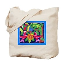 tropical forest animals mola Tote Bag
