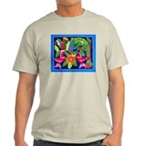 tropical forest animals mola Ash Grey T-Shirt