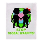 Stop Global Warming Throw Blanket