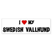 I Love My Swedish Vallhund Bumper Bumper Sticker