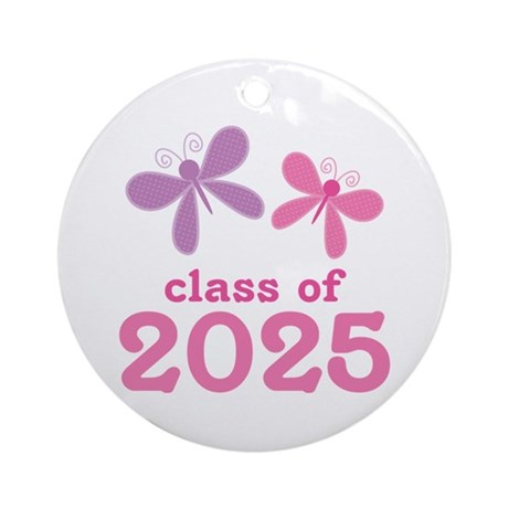 2025 Girls Graduation Ornament (Round)