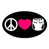 Peace, Love, Cloth Decal