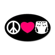 Peace, Love, Cloth 38.5 x 24.5 Oval Wall Peel