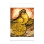 Yellow English Trumpeter Mini Poster Print