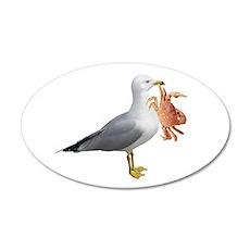 Seagull & Crab 22x14 Oval Wall Peel
