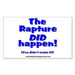 The Rapture Sticker (Rectangle)