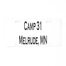 Camp 31 Aluminum License Plate