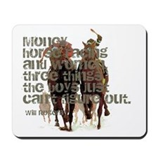 Will Rogers Horse Racing Quot Mousepad