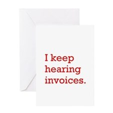 Hearing Invoices Greeting Card