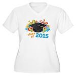 Class of 2015 Women's Plus Size V-Neck T-Shirt