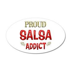 Salsa Addict 22x14 Oval Wall Peel
