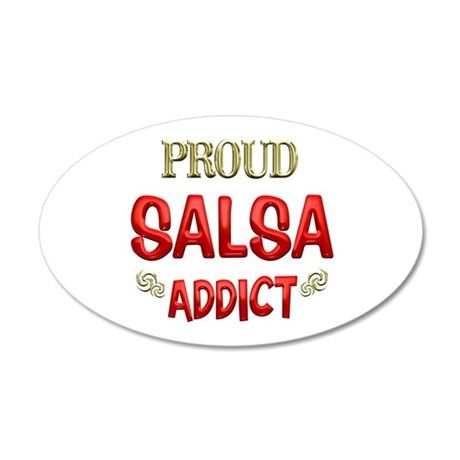 Salsa Addict 38.5 x 24.5 Oval Wall Peel