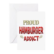 Hamburger Addict Greeting Cards (Pk of 20)