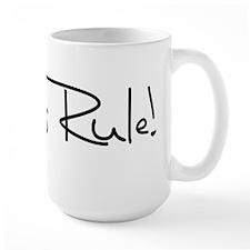 Vegans Rule! Large Mug