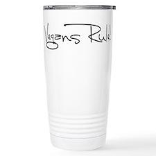 Vegans Rule! Stainless Steel Travel Mug