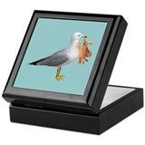 Seagull Crab Blue Keepsake Box
