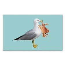 Seagull Crab Blue Decal