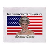 Princess Diana Throw Blanket