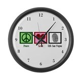 Peace Love CSI: Vegas Large Wall Clock