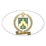 POTVIN Family Crest Sticker (Oval 10 pk)