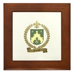 POTVIN Family Crest Framed Tile