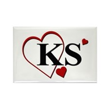 Love KS Kansas Heart Rectangle Magnet (100 pack)