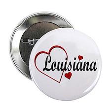 "Love Louisiana Hearts 2.25"" Button"