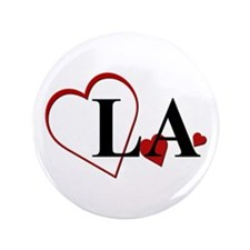 "Love LA Louisiana Hearts 3.5"" Button"