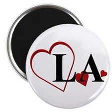 Love LA Louisiana Hearts Magnet