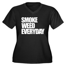 Smoke Weed Everyday Women's Plus Size V-Neck Dark
