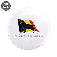 """Belgian"" Tervuren 3.5"" Button (10 pack)"