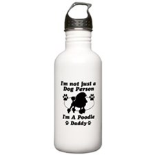 Poodle daddy Water Bottle